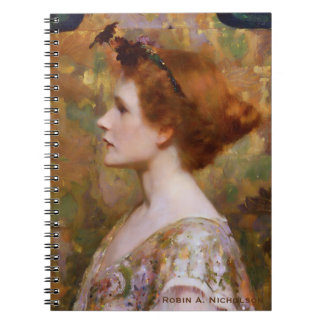 Herter Woman with Red Hair Personalized Notebook