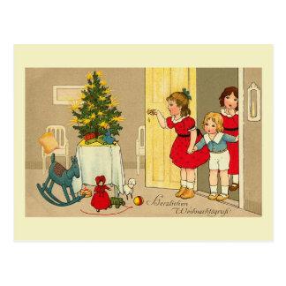 """""""Herzlichen Weihnachtsgruss"""" Postcard"""
