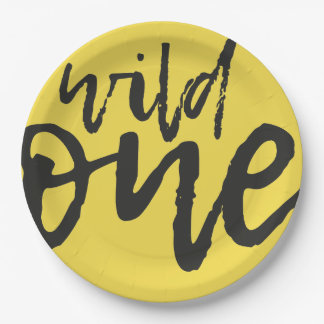 He's A Wild One Sparkle Script Paper Party Plate
