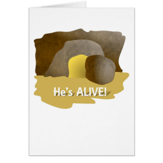 He's Alive Easter Card