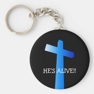HE'S ALIVE!!... Religious keyring Basic Round Button Key Ring