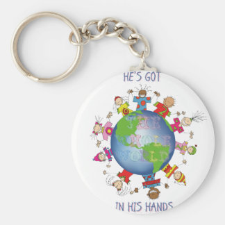 He's Got the Whole World in His Hands Key Ring