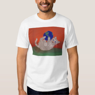 He's Got the Whole World in His Paws T Shirt