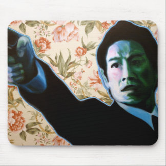 """""""He's in Your Living Room"""" by Axel Bottenberg Mouse Pad"""