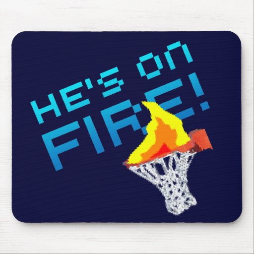 He's on FIRE! Mouse Mats