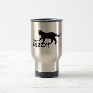 He's so Zazzy - Cat Lover Stainless Steel Travel Mug