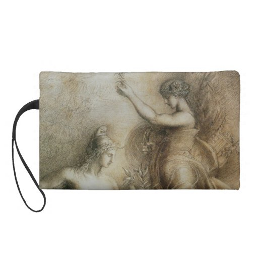 Hesiod and Muse by Gustave Moreau Wristlet Clutch