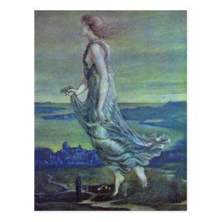 Hesperus. The Evening Star by Edward Burne-Jones Postcard