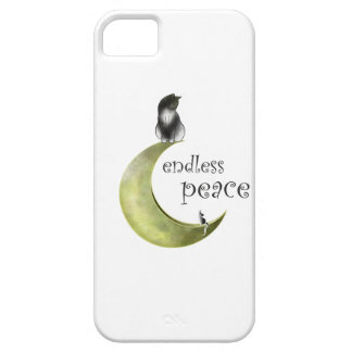 Hessaniata - cat on the moon barely there iPhone 5 case