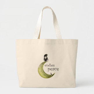 Hessaniata - cat on the moon large tote bag