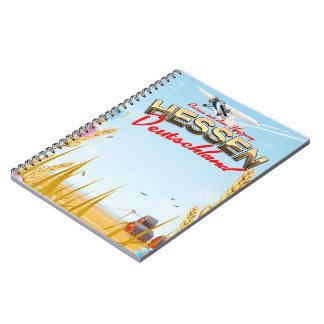 Hessen Deutschland Reiseplakat Spiral Notebook