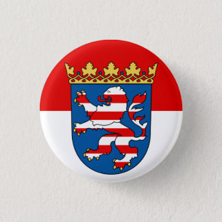 Hessen Flag 3 Cm Round Badge