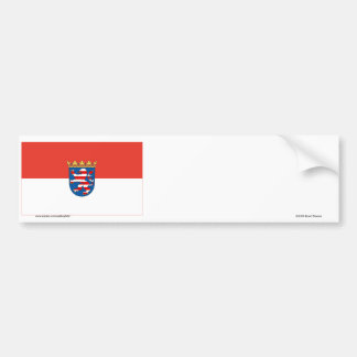 Hessen Flag Bumper Sticker