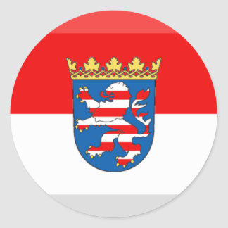 Hessen Flag Gem Classic Round Sticker