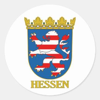 Hessen (Hesse) COA Classic Round Sticker