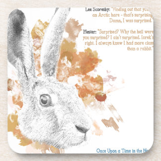 Hester, Hare Daemon from His Dark Materials Coaster