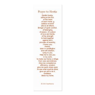 Hestia Prayer Card Business Card Templates