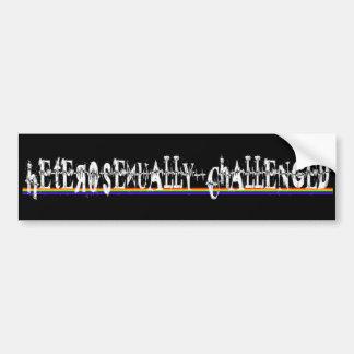 Heterosexually Challenged Bumper Sticker