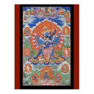 Hevajra Tibetan Buddhist Deity Art Postcard