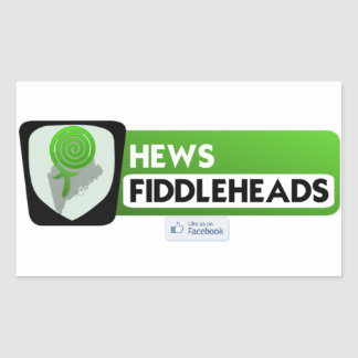 hews fiddlehead stickers