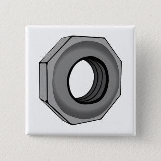 Hex Nut 15 Cm Square Badge