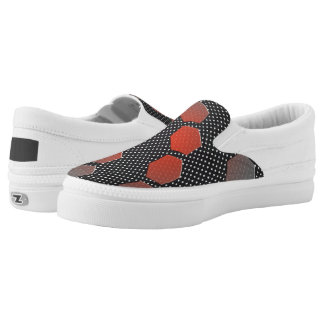 HEX RED BLACK AND WHITE LOW CUT SHOE PRINTED SHOES