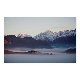 Hex River Mountains At Sunrise, Western Cape Poster