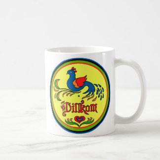 Hex Sign Welcome Bird Mug