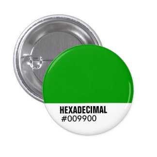 HEXADECIMAL Color Template 3 Cm Round Badge