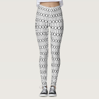Hexadiamond Outline Patterned Leggings