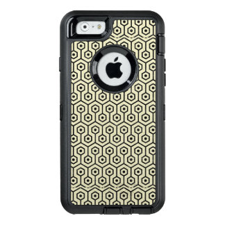 HEXAGON1 BLACK MARBLE & BEIGE LINEN (R) OtterBox DEFENDER iPhone CASE