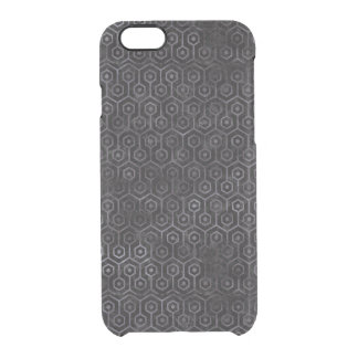 HEXAGON1 BLACK MARBLE & BLACK WATERCOLOR CLEAR iPhone 6/6S CASE