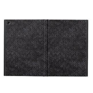 HEXAGON1 BLACK MARBLE & BLACK WATERCOLOR iPad AIR CASE