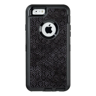 HEXAGON1 BLACK MARBLE & BLACK WATERCOLOR OtterBox DEFENDER iPhone CASE