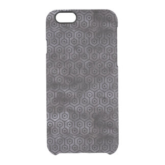 HEXAGON1 BLACK MARBLE & BLACK WATERCOLOR (R) CLEAR iPhone 6/6S CASE