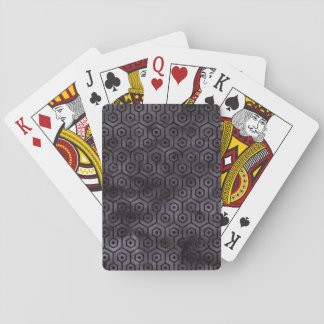 HEXAGON1 BLACK MARBLE & BLACK WATERCOLOR (R) PLAYING CARDS