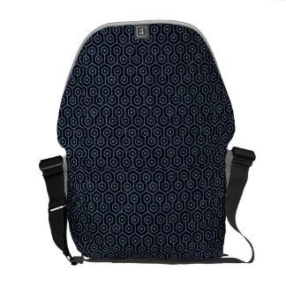 HEXAGON1 BLACK MARBLE & BLUE DENIM COMMUTER BAGS
