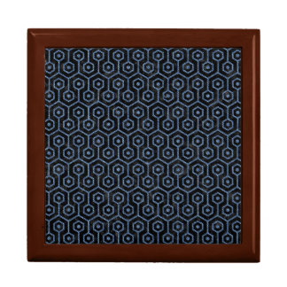 HEXAGON1 BLACK MARBLE & BLUE DENIM GIFT BOX