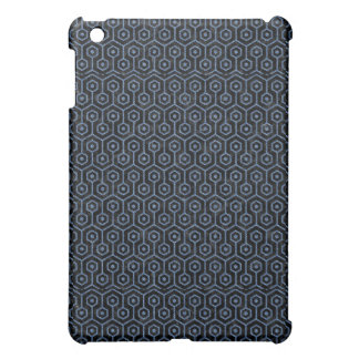 HEXAGON1 BLACK MARBLE & BLUE DENIM iPad MINI COVERS