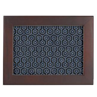 HEXAGON1 BLACK MARBLE & BLUE DENIM KEEPSAKE BOX