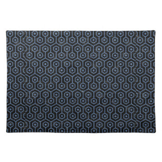 HEXAGON1 BLACK MARBLE & BLUE DENIM PLACEMAT
