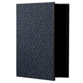 HEXAGON1 BLACK MARBLE & BLUE DENIM POWIS iPad AIR 2 CASE