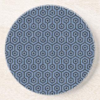 HEXAGON1 BLACK MARBLE & BLUE DENIM (R) COASTER