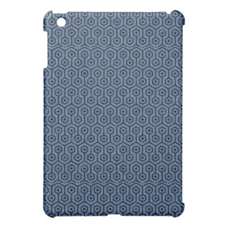HEXAGON1 BLACK MARBLE & BLUE DENIM (R) iPad MINI COVERS