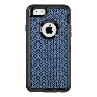 HEXAGON1 BLACK MARBLE & BLUE DENIM (R) OtterBox DEFENDER iPhone CASE