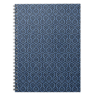 HEXAGON1 BLACK MARBLE & BLUE DENIM (R) SPIRAL NOTEBOOK