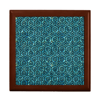 HEXAGON1 BLACK MARBLE & BLUE-GREEN WATER (R) GIFT BOX