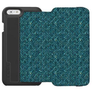 HEXAGON1 BLACK MARBLE & BLUE-GREEN WATER (R) INCIPIO WATSON™ iPhone 6 WALLET CASE