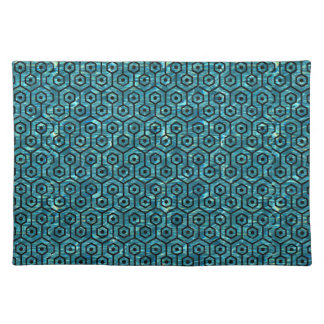 HEXAGON1 BLACK MARBLE & BLUE-GREEN WATER (R) PLACEMAT