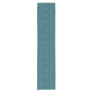 HEXAGON1 BLACK MARBLE & BLUE-GREEN WATER (R) SHORT TABLE RUNNER
